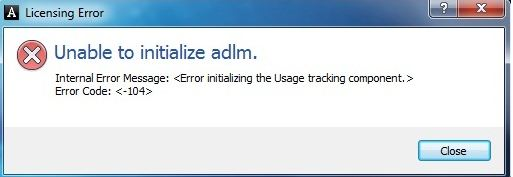 Unable to Initialize adlm  – Procad