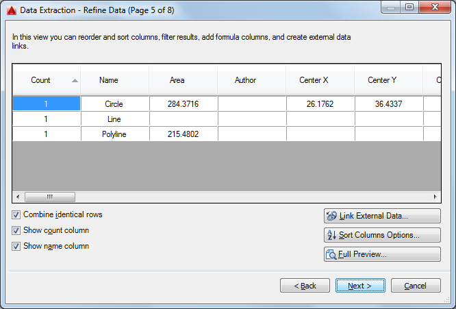 Data Extraction to Excel – Procad